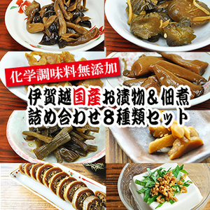Photo1: 国産 漬物 & 佃煮 伊賀越 詰め合わせ 8種類セット (1)