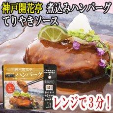 Photo1: レトルト ハンバーグ 神戸開花亭 芳醇煮込みハンバーグ テリヤキソース 190g(レンジ調理・常温長期保存) (1)