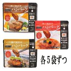 Photo2: レトルト ハンバーグ 神戸開花亭 芳醇煮込みハンバーグ 3種類15個セット (2)