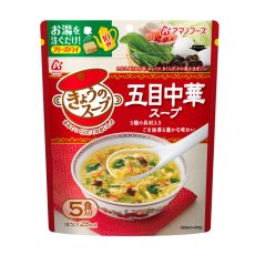 Photo2: フリーズドライ アマノフーズ  スープ きょうのスープ 五目中華スープ5食 (2)