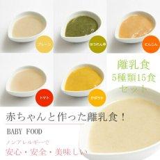 Photo2: 無添加 米粉の離乳食5ヶ月頃から5種15食セット  ノンアレルギー ベビーフード アレルゲン (2)