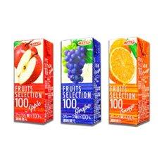 Photo5: フルーツセレクション パックジュース3種類計48パック (アップル オレンジ グレープ) 受験生 応援 (5)