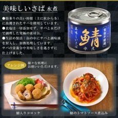 Photo3: 食塩不使用 缶詰め 美味しい鯖水煮 190g さば 国産 減塩 惣菜 素材缶 常温保存 長期保存 非常食 (3)