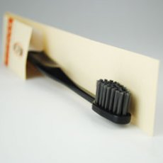 Photo2: 備長炭歯ブラシ すみみがき(黒色) (2)