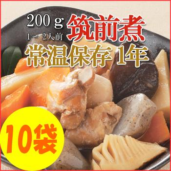 Photo1: レトルト おかず 和食 惣菜 筑前煮  200g(1〜2人前)×10袋セット (1)