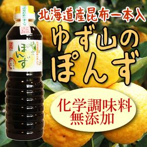 Photo1: 伊賀越 無添加 天然蔵 ゆず山のぽんず(北海道昆布一本入)500ml ポン酢 調味料 (1)
