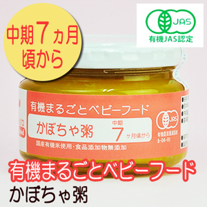 Photo1: 有機まるごとベビーフード かぼちゃ粥 100g 中期7か月頃から 味千汐路 (1)