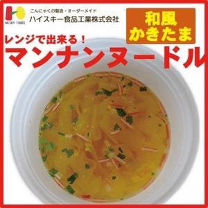 Photo1: 【マンナンミール】レンジでできる!マンナンヌードル 和風かきたま味【健康食品】【希少糖】【ダイエット】 (1)