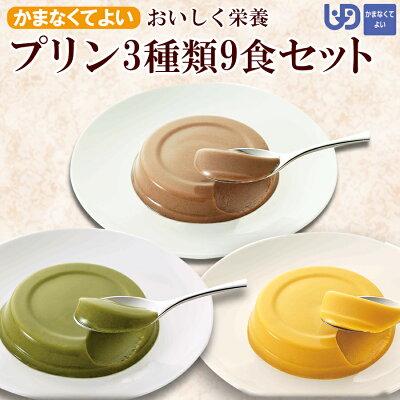 Photo1: おいしく栄養 プリン 3種類9食セット スイーツ かまなくてよい(区分4) 介護食 ホリカフーズ (1)