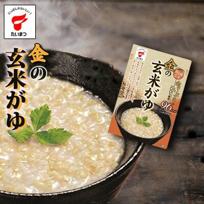 Photo1: 金のいぶき 金の玄米がゆ250gx5個(たいまつ食品)  健康志向の レトルト おかゆ 胚芽 玄米 (1)