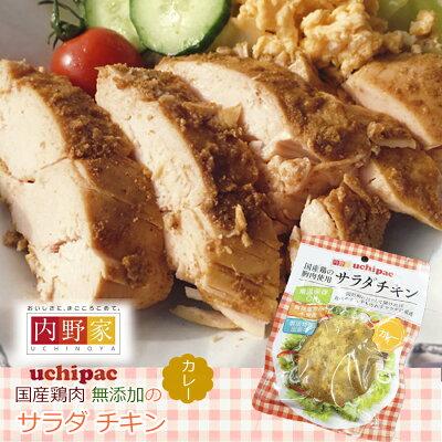 Photo1: サラダ チキン カレー 無添加 安心安全 お惣菜の内野家  国産鶏肉 食品添加物 保存料不使用 常温 (1)
