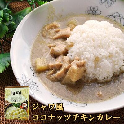 Photo1: ジャワ風ココナッツチキンカレー(レトルトカレー 180g)DFE (1)