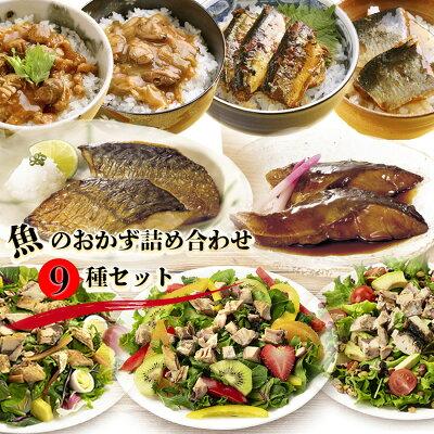 Photo1: レトルト惣菜 厳選 魚のおかず詰め合わせ9種セット 洋食 サラダ 丼 常温保存 レンジ調理 (1)