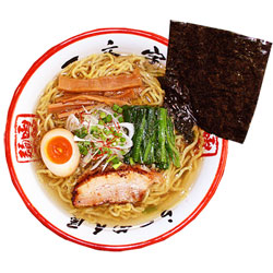 Photo1: 函館ラーメン一文字(塩・2食入り)【超人気店ラーメン】(常温保存) (1)