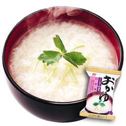 Photo1: 白かゆ16gX6袋セット【アマノフーズのフリーズドライ米粥:日本国内製造】(素材の栄養を保ちつつ美味しさを封じ込めた・お湯を注いで10秒) (1)