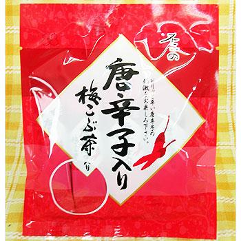 Photo1: 不二の唐辛子入り梅こぶ茶  (スティック2gX10包) (1)