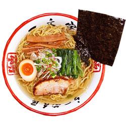 Photo1: 函館ラーメン「一文字」(細麺、塩スープ)1箱4食入り[超人気店ラーメン] これぞ!塩ラーメン(常温保存) (1)